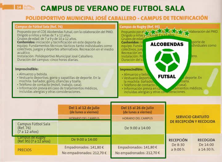 Campus de Verano de Futbol Sala