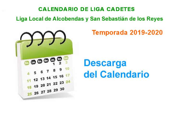 Calendario Cadete 19-20