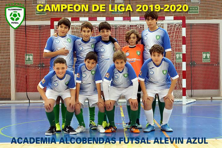 alevin azul campeon liga 2019-2020