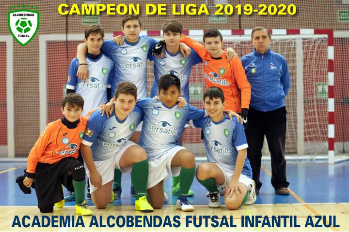 infantil azul campeon liha 2019-2020